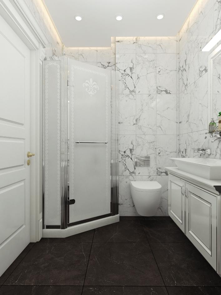 Современный интерьер ванной комнаты - SK Company f2db57b13cbd1